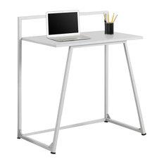 Computer Desk, Juvenile White, White Metal