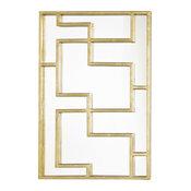 Lotus Oriental Mirror Panel, Mirror, Silver