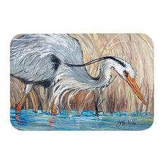 Blue Heron in the Reeds Kitchen/Bath Floor Mat