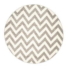 Safavieh Amherst Collection AMT419 Rug, Dark Grey/Beige, 9' Round