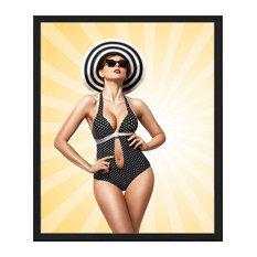 """""""Sunbathing"""" Framed Print, 50x60 cm"""