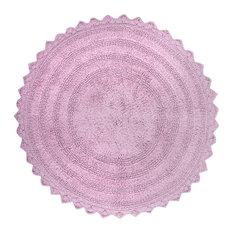 DII Mauve Round Crochet Bath Mat