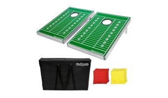 GoSports Football Field CornHole Bean Bag Toss Game Set