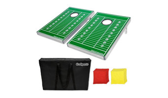 GoSports Football Field CornHole Bean Bag Toss Game Set