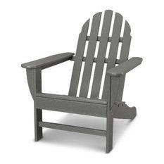 Polywood Classic Adirondack Chair, Slate Gray
