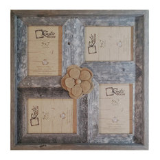 "Ruxin Rustic Barn Wood Collage Frame, 8""x10"""