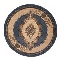 "United Weavers Bristol Fallon Rug, Blue (2050-10560), 7'10""x7'10"" Round"