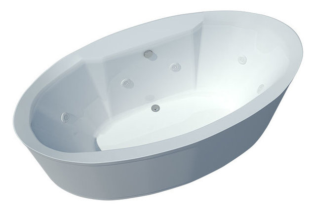stand alone whirlpool tub. Atlantis Tubs 3468SW Suisse 34x68x24 Inch Freestanding Whirlpool Jetted  Bathtub