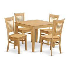 5-Piece Dinette Set Table And 4 Dining Chairs Without Cushion Without Cushion