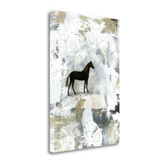 """""""Dark Horse"""" By Sarah Ogren, Giclee Print on Gallery Wrap Canvas, Ready to Hang"""