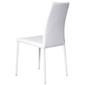 Vega Contemporary Leather Chair, White
