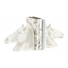 2-Piece Stable Stallion Sculpture Bookend Set