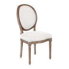 Lillian Oval Back Chair, Linen