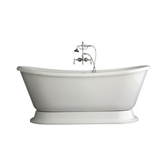 Hotel Collection Bateau Double Slipper Pedestal Bathtub And Faucet Package 59 Toto Freestanding Tub Filler