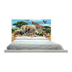 -inchAnimals At The Water-inch Headboard