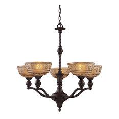 Norwich 5-Light Chandelier, Oiled Bronze