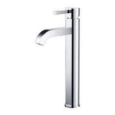 Kraus Ramus Single Handle Vessel Bathroom Faucet With Pop-Up Drain, Chrome