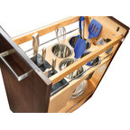 Veggie Bin, Chrome - Contemporary - Pantry And Cabinet Organizers - by ShopLadder
