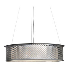 Clarus Pendant, Chrome Finish With Opal Acrylic Diffuser, WRL