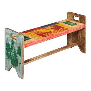 vidaXL Solid Reclaimed Wood Cola Bench, 100x30x50 cm