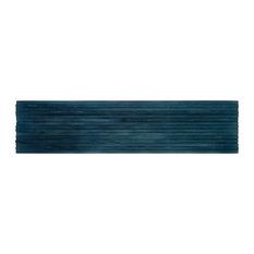 MTO0041 Modern Subway Blue Glossy Murano Glass Tile