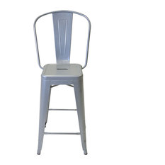 Inmod - Bastille Counter Stool with Back Set of 2 - Bar Stools and Counter  sc 1 st  Houzz & Tolix Bar Stool With Back | Houzz islam-shia.org