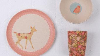Woodland Critters - 3 Piece Bamboo Dinnerware Set