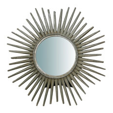 Solar Countertop Mirror, Silver