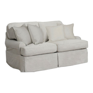Slipcover Only For Cloud Puff Ottoman Performance Gray