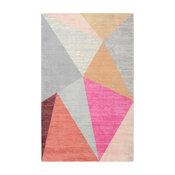 RugSmith Pink Pyramid Mid-Century Geometric Area Rug, 3' x 5'