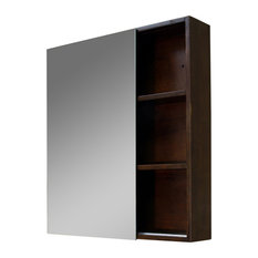 Bellaterra Home - Bellaterra 29.5 x31.5  Mirrored Medicine Cabinet Solid Wood  sc 1 st  Houzz & 50 Most Popular Semi-Recessed Medicine Cabinets for 2018 | Houzz