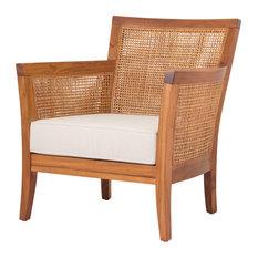 Delta Rattan Arm Chair Coastal Washed Brown