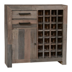 1st Avenue   Foster Reclaimed Pine Bar Cabinet, Charcoal   Wine And Bar  Cabinets