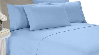 Blue Full 4-Piece Goose Down Comforter And Duvet Set