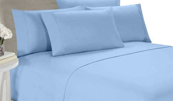 Blue Full 4-Piece Goose Down Comforter And Duvet Set