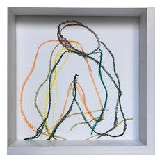 """Head on Knee 2"" Painting by Lynne Pell, 10""x10"""