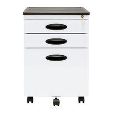 Mobile File Cabinet, White