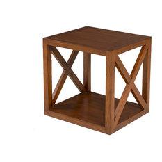 Lauren Stackable Cube Shelf, Chocolate