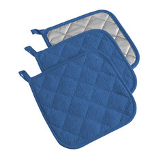 DII Blueberry Terry Pot Holder, Set of 3