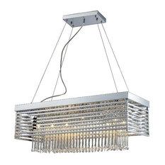 Modern Rectangular Chandeliers modern rectangular chrome chandeliers | houzz