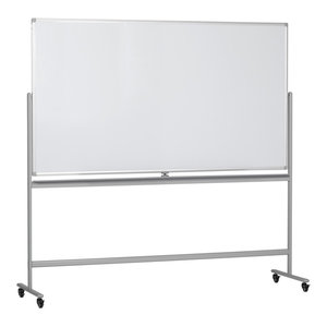 "Offex Double Sided Magnetic Dry Erase Whiteboard With Easy Flip & Lock, 72""x40"""