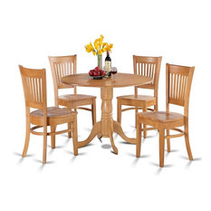 5-Piece Kitchen Nook Dining Set Round Table And 4 Dinette Chairs