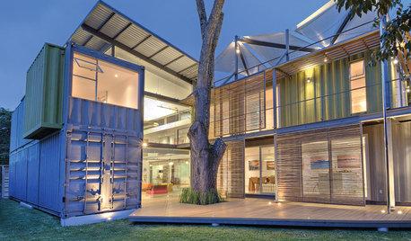 Casas Houzz: 8 contenedores para una vivienda sostenible de 95 m²