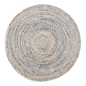 Shells Round Braided Rug Beach Style Area Rugs By