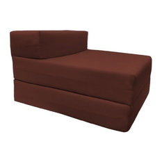 Single Futon Bed, Cotton Drill Fabric and Foam, Also Can Be Used As A Chair