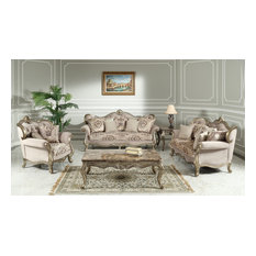 Tulip Traditional Living Room Collection 3 Piece Set