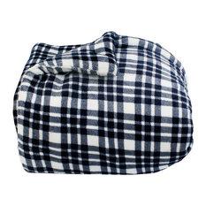 THRO - Cassidy Classic Plaid Flannel Fleece Comforter Set, Twin - Kids Bedding