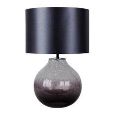 Ibbie Table Lamp, Smoked Glass