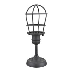"40080, Wire Cage Metal Accent Lamp, Vintage Design, Sand Black, 11 1/2"" High"