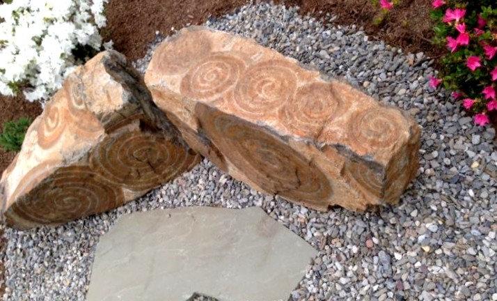 Benches in the Rock Garden: Landscape Sculpture: Functional Art in the garden